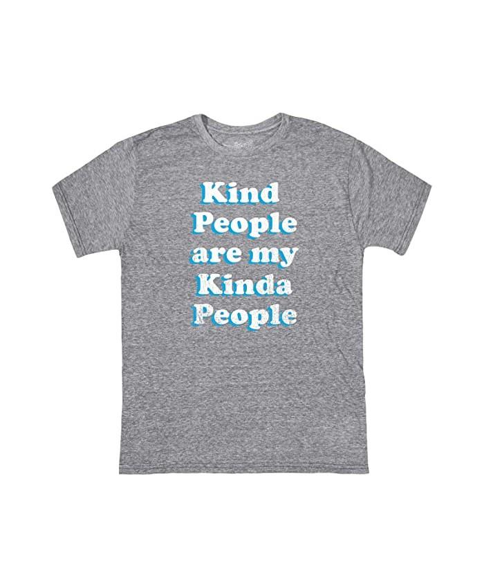 The Original Retro Brand Kids Vintage Tri-Blend Kind People Tee (Big Kids)