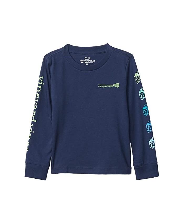 Vineyard Vines Kids Long Sleeve Lax Sleeves T-Shirt (Toddler\u002FLittle Kids\u002FBig Kids)