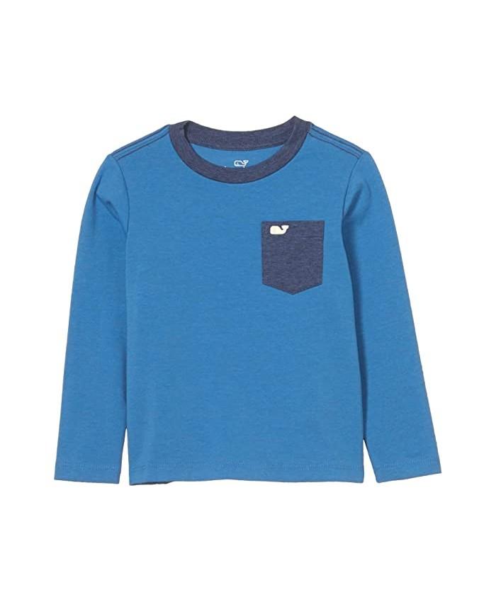 Vineyard Vines Kids Long Sleeve Super Soft Pocket T-Shirt (Toddler\u002FLittle Kids\u002FBig Kids)