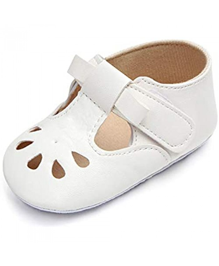 Baby Girl Shiny Mary Jane Lovely Baby Sandals Soft Sole Toddler Shoes First Walkers Crib Shoes