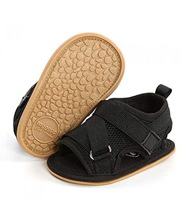 HULYKA Baby Girls Boys Sports Sandals Closed-Toe Anti-Slip Rubber Sole Pool Beach Mesh Shoes Toddler Summer Outdoor Water Shoes