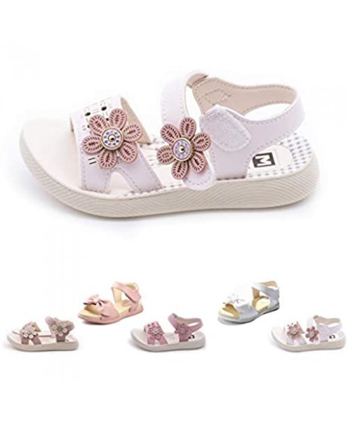 Kids Girls Beach Sandals Summer Fashion Bow Knot Princess Dress Child Shoes(Toddler/Little Kid)