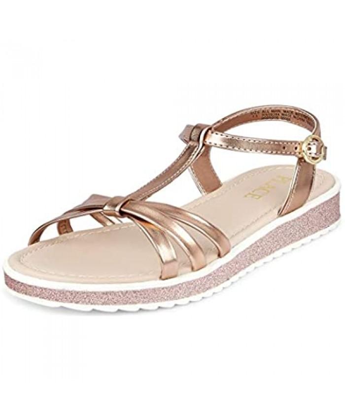 The Children's Place Unisex-Child Glitter Strap Sandals Slipper
