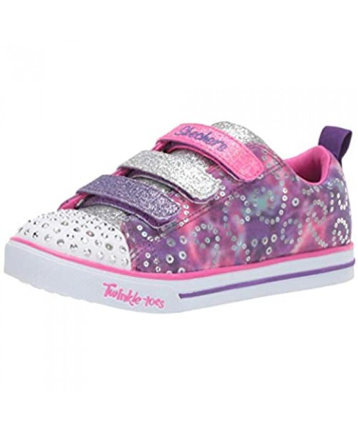 Skechers Unisex-Child Sparkle Lite-Rainbow Brights Sneaker