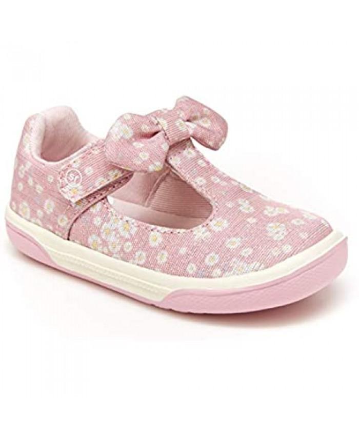 Stride Rite girls Catalina Sneaker Pink 7 Wide Little Kid US