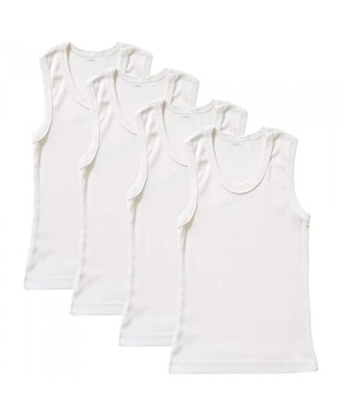B-One Kids Boys' Cotton Tank Top Undershirt (Multipack)