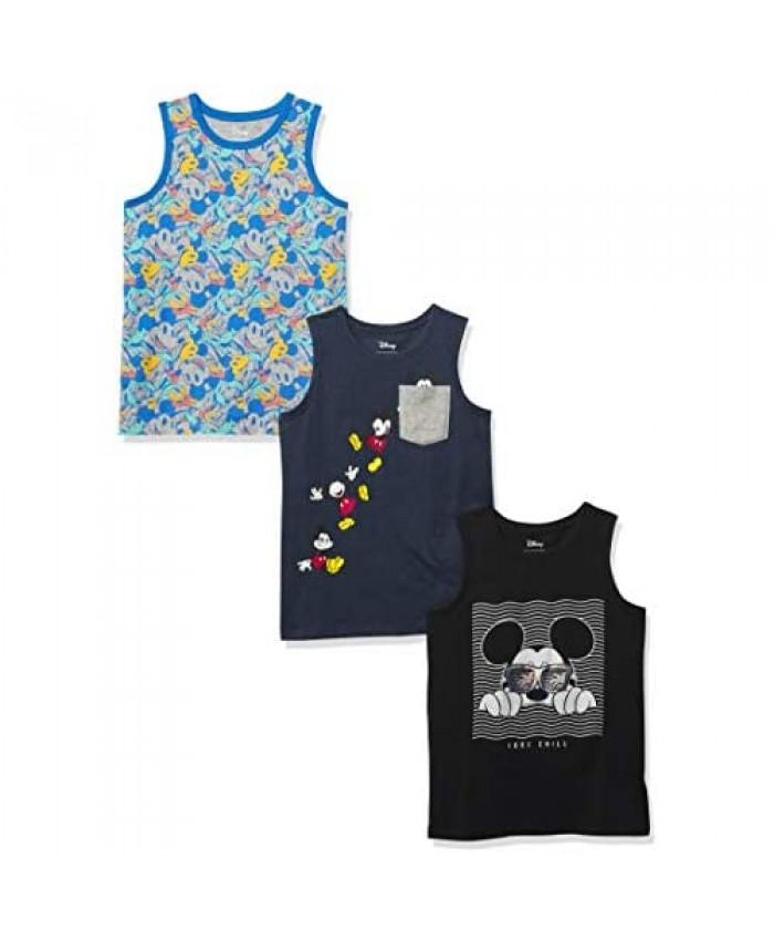 Brand - Spotted Zebra Boys' Disney Star Wars Marvel Sleeveless Tank Top T-Shirts