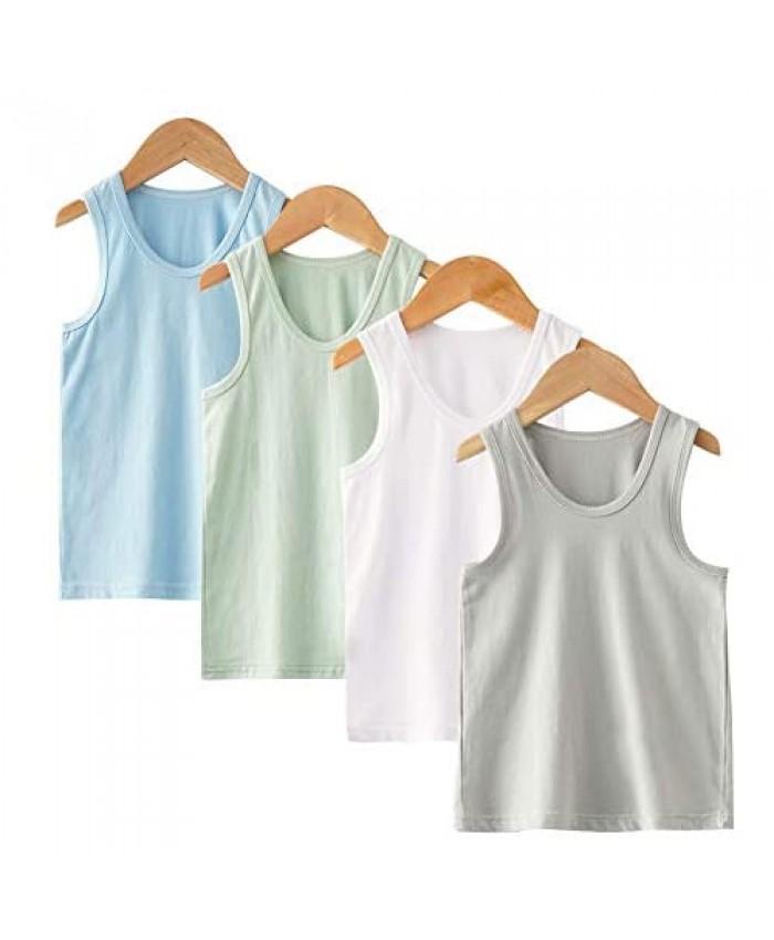 Guozyun Baby Boys Toddler Tank Tops Boys Sleeveless T-Shirts Organic Cotton Tees Undershirt Shirts for Kids Boys Baby