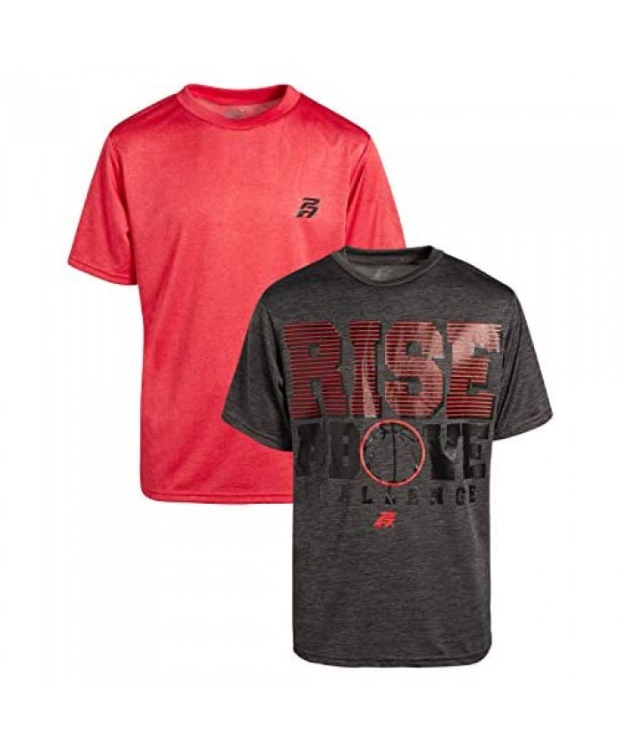 Pro Athlete Boy's Quick Dry Athletic Performance T-Shirts (2-Pack)
