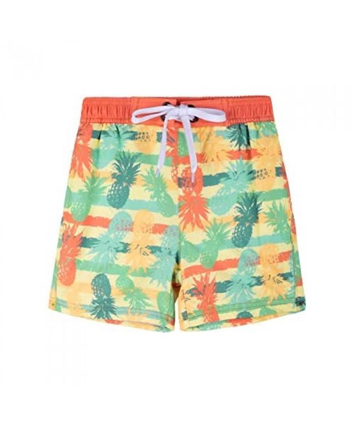 Nonwe Boy's Beach Shorts Quick Dry Soft Drawsting Colrful Pocket Pool Swim Trunks