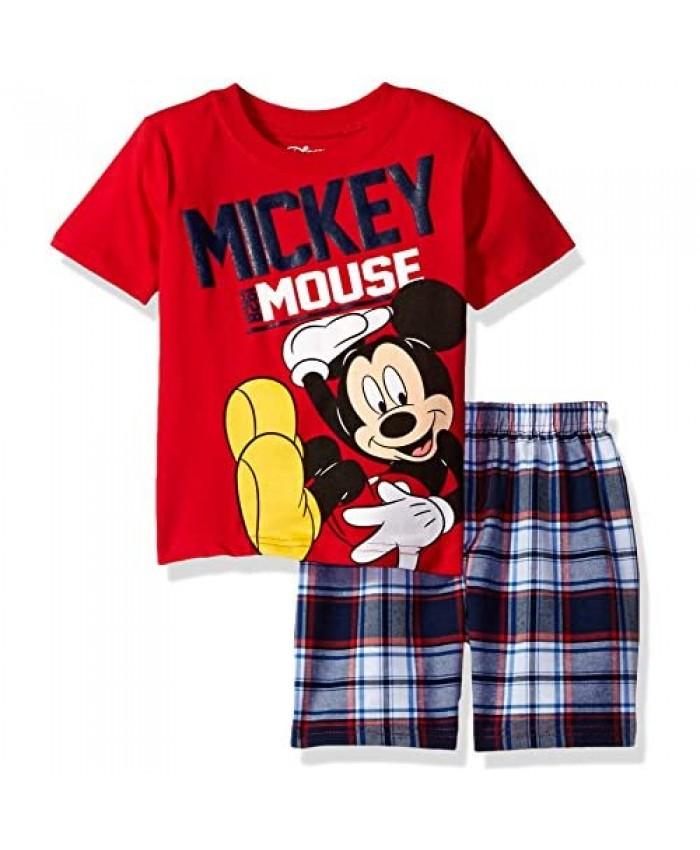 Disney Mickey Mouse T-Shirt Shorts Set Green