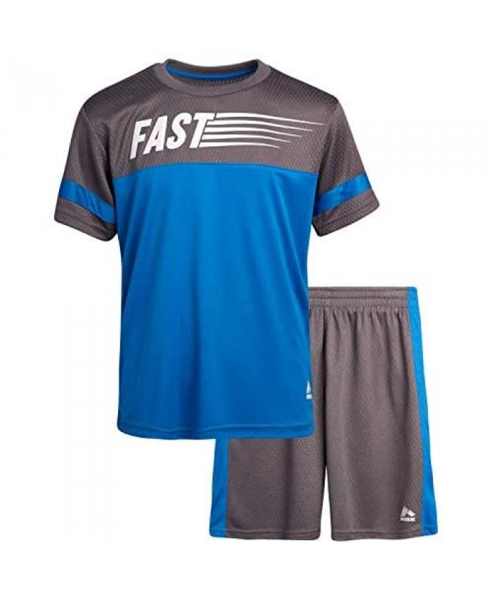 RBX Boys' Activewear Short Set – Short Sleeve T-Shirt and Gym Shorts Performance Set