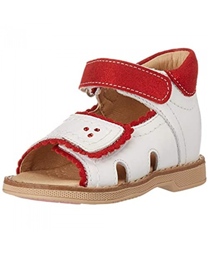 Orthopedic Kids Shoes for Boys and Girls - Twiki - Genuine Leather Sandals with 2 Fasteners Non-Slip Amortizing Sole and Thomas Heel
