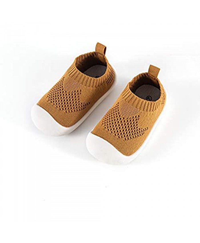 Mychonly Toddler Shoes Sneakers Non Slip Lightweight Baby First-Walking Trainers Toddler Infant Boys Girls Soft Kid Cute
