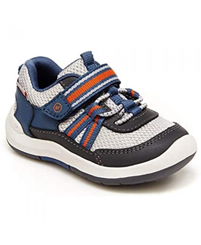 Stride Rite boys Srt Jasper Running Shoe Grey 9.5 Toddler US