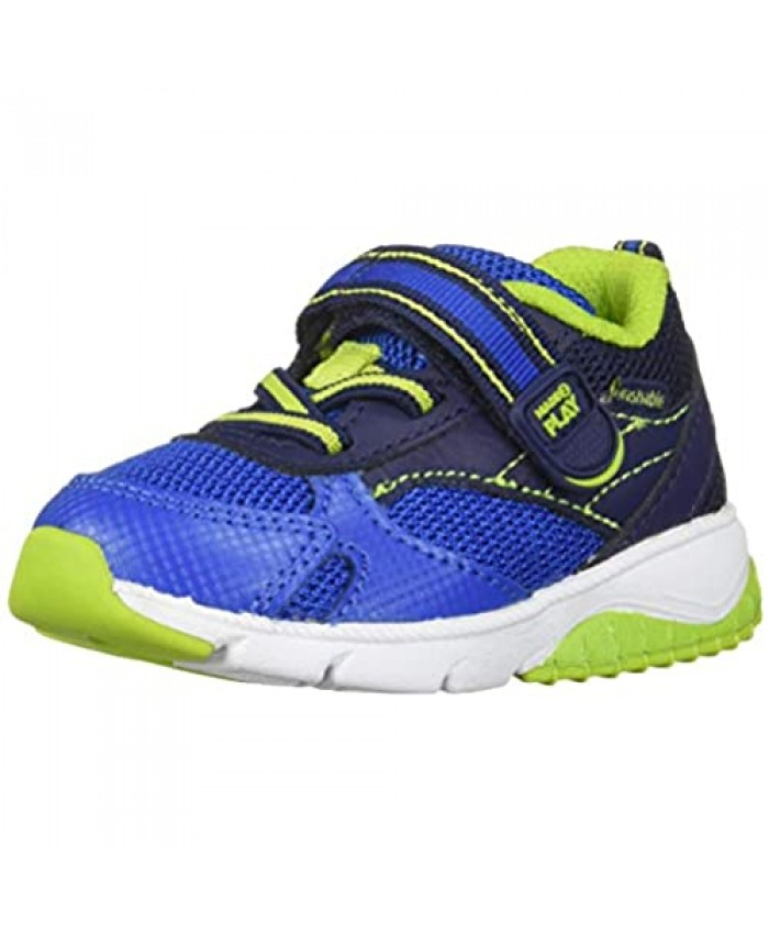 Stride Rite boys Stride Rite Made2play Indy Boy's/Girl's Machine Washable Athletic Sneaker Navy 5 Wide Toddler US