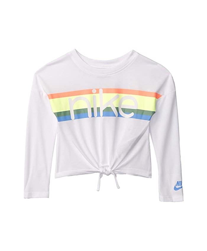 Nike Kids Long Sleeve Tie Front Top (Toddler\u002FLittle Kids)
