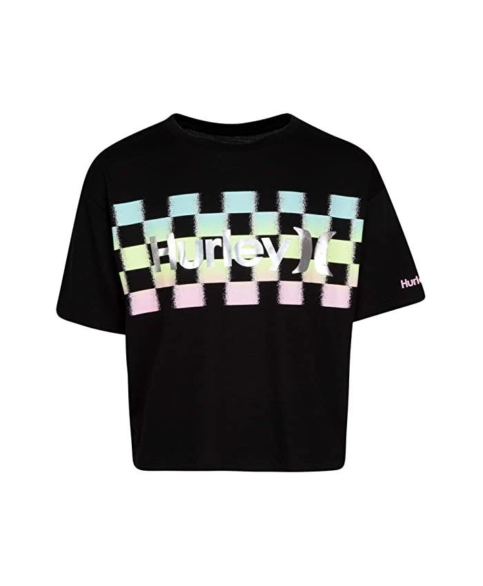 Hurley Kids Checker Print T-Shirt (Big Kids)