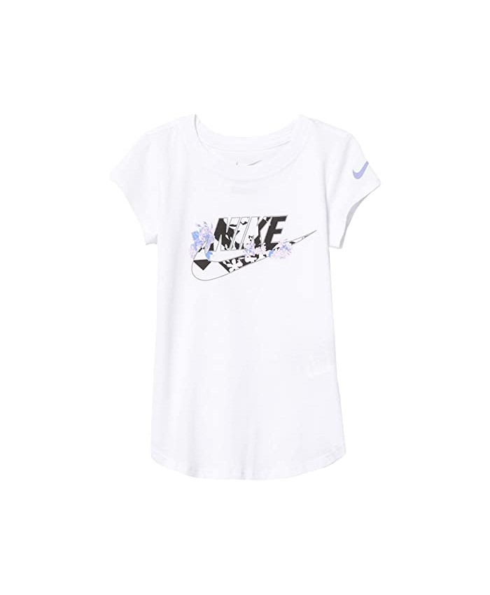 Nike Kids Short Sleeve Floral Swoosh Graphic T-Shirt (Toddler\u002FLittle Kids)