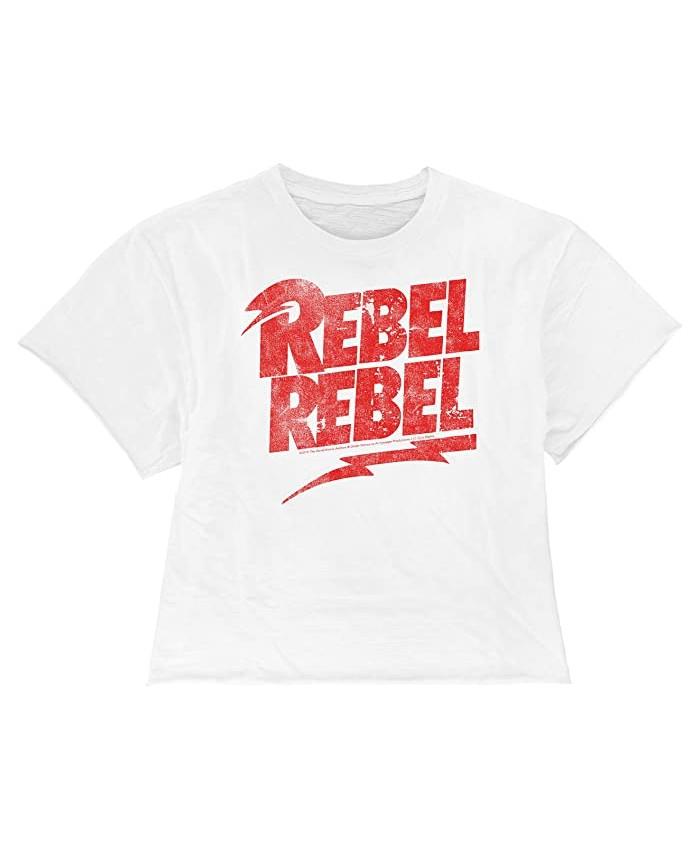 The Original Retro Brand Kids Rebel Rebel Raw Edge Slub Slightly Cropped Tee (Big Kids)