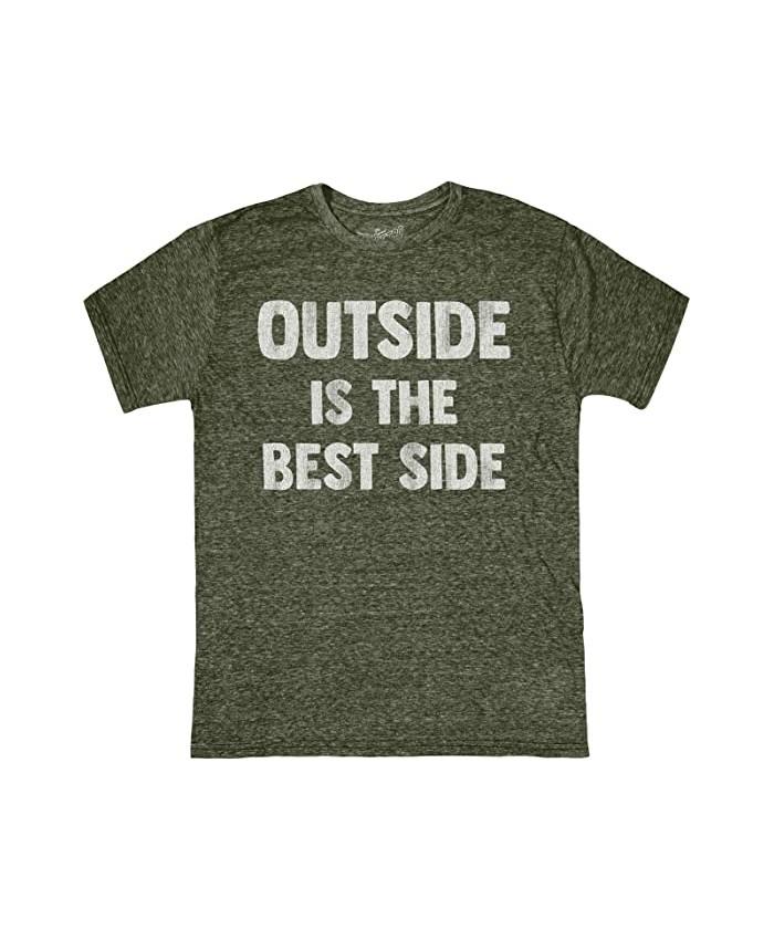 The Original Retro Brand Kids Vintage Tri-Blend Outside Is The Best Side Tee (Big Kids)