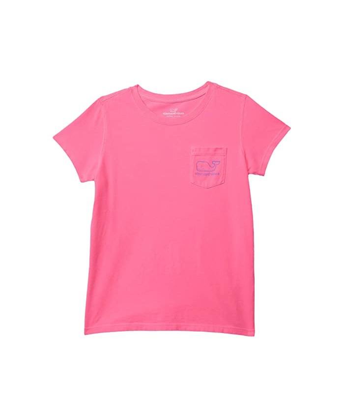 Vineyard Vines Kids Short Sleeve Vintage Whale Garment Dyed Pocket Tee (Toddler\u002FLittle Kids\u002FBig Kids)