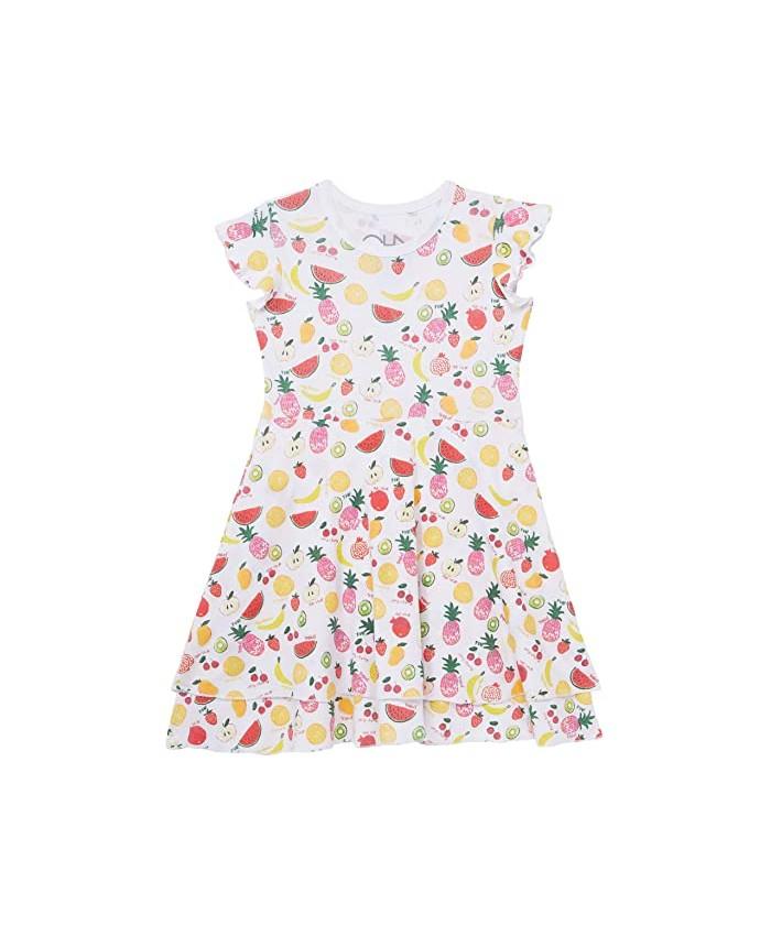 Chaser Kids Baby Rib Flutter Sleeve Tiered Dress (Toddler\u002FLittle Kids)