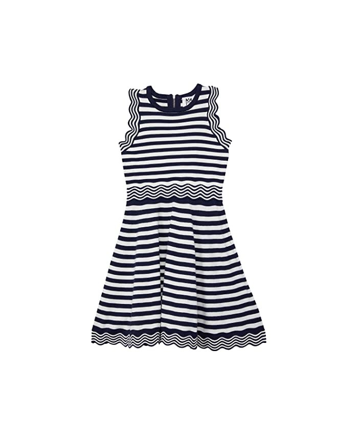 Milly Minis Textured Wave Flare Dress (Big Kids)